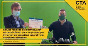 Grupo Todomoto Automoción recibe de Ibermutua un reconocimiento para empresas que invierten en seguridad laboral y sin accidente laborales
